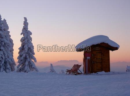 farbverlauf westendorf tyrol snow canvas chair