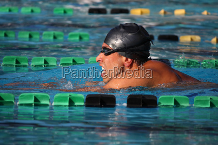 profile competition pool bathing cap breaststroke
