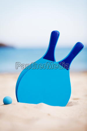 blue beach ball bat in the