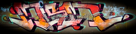 colour concrete letters daub graffiti grafitti
