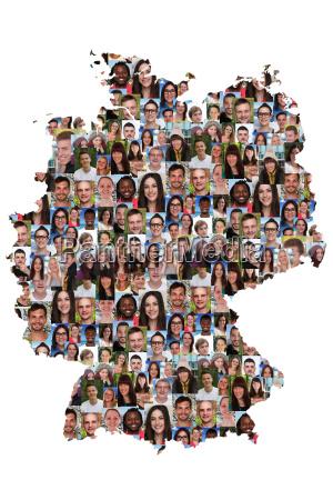 alemania mapa las personas jovenes diversidad