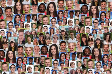 collage fondo gente joven personas grandes