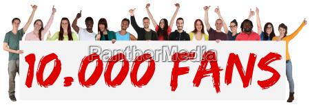 10000 fans likes social media networks