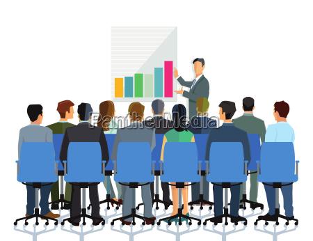 conferencia y asesoramiento a un grupo