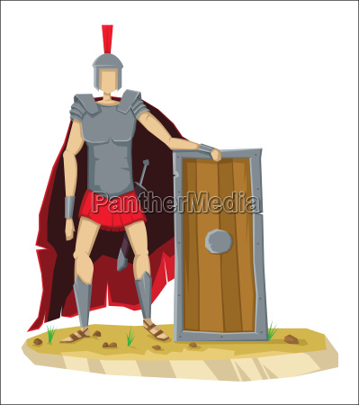 digital vector tall roman legionnaire with