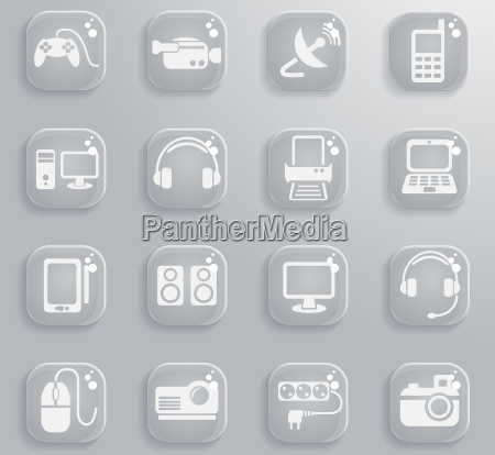 devices icon set