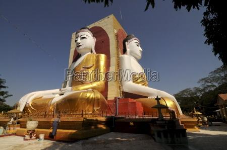 kyaikpun buddha bago myanmar asia