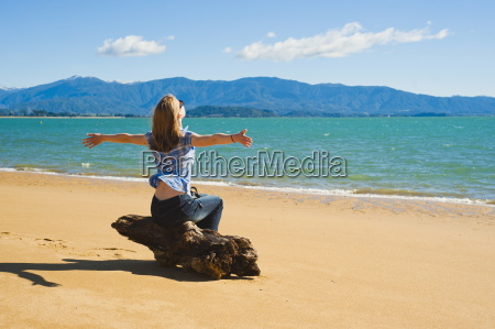 woman on the beach at tata