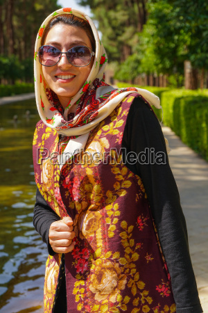 young iranian woman in fashionable modern