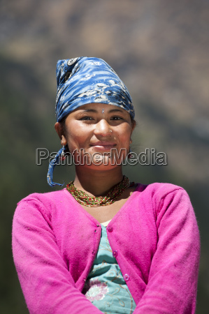 a nepali girl from the remote