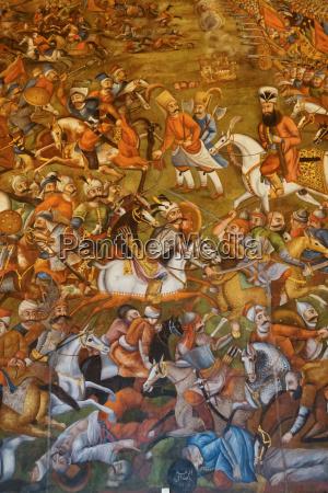 mural of battle of chaldoran 1518