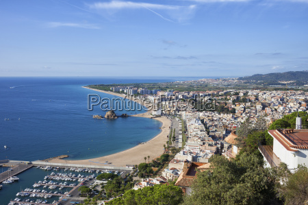 spain catalonia blanes resort town at