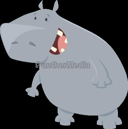 animal ilustracion hipopotamo dibujo foto caracter