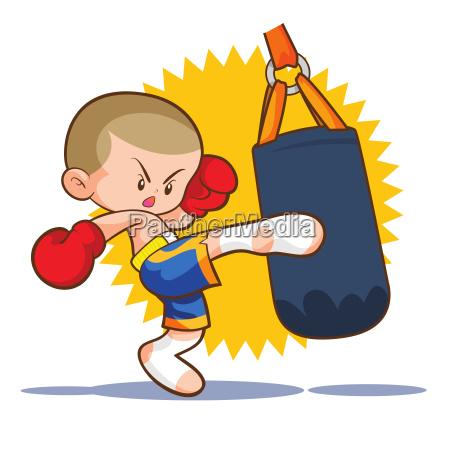 muaythai kids boxing fighting