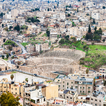 view of ancient roman theater in