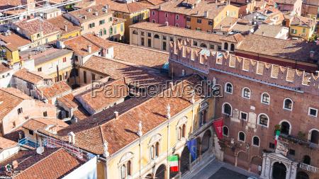 above view of piazza dei signori