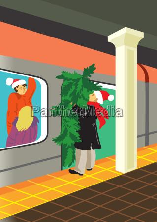tree new party celebration card christmas
