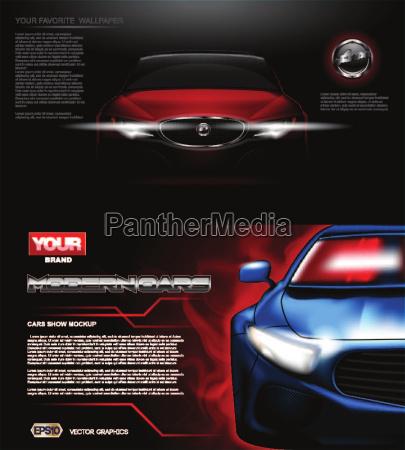 digital vector red modern sport car